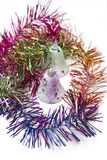 Kleurrijke grenzen en klokdecoratie van Kerstmis royalty-vrije stock fotografie