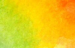 Kleurrijke groene, gele en oranje waterverfachtergrond royalty-vrije illustratie