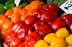 Kleurrijke groene paprika's Stock Afbeelding
