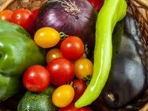 Kleurrijke groenten stock afbeelding