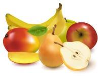 Kleurrijke groep vers fruit. Royalty-vrije Stock Foto