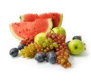 Kleurrijke groep verse vruchten Royalty-vrije Stock Afbeelding