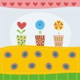 Kleurrijke groetkaart Stock Afbeelding