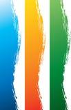 Kleurrijke grungy zijgrens Stock Afbeeldingen