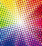 Kleurrijke halftone achtergrond Royalty-vrije Stock Afbeeldingen