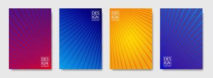 Kleurrijke halftone lijnendekking van pagina-indelingenontwerp Moderne ontwerpdekking met halftone gradiënten Dynamisch affichema stock illustratie