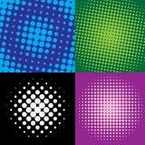 Kleurrijke halftone punten Stock Illustratie