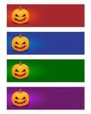 Kleurrijke Halloween-banners Stock Fotografie