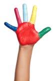 Kleurrijke hand Royalty-vrije Stock Afbeeldingen