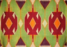 Kleurrijke hand - gemaakt bont deken of tapijt Stock Foto's