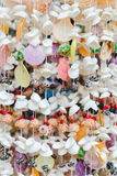 Kleurrijke hand - gemaakte overzeese shells die decoratie hangen Royalty-vrije Stock Foto