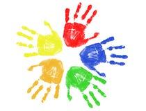 Kleurrijke handaf:drukken Royalty-vrije Stock Fotografie