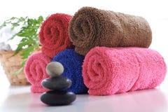 Kleurrijke handdoek Royalty-vrije Stock Foto's