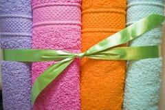 Kleurrijke Handdoeken Stock Foto