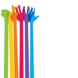 Kleurrijke handen die één tot vijf aantal vormen Royalty-vrije Stock Afbeeldingen