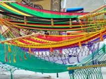 Kleurrijke Hangmatten Stock Foto