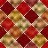 Kleurrijke Harlekijn van het de winter de Naadloze wollen gebreide patroon Royalty-vrije Stock Afbeelding