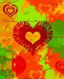 Kleurrijke hartachtergrond Stock Fotografie