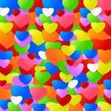 Kleurrijke harten Royalty-vrije Stock Afbeelding