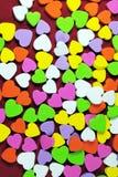 Kleurrijke harten Royalty-vrije Stock Foto