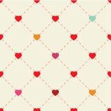 Kleurrijke harten en punten op beige achtergrond Stock Foto
