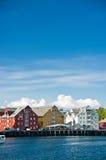 Kleurrijke havengebouwen Royalty-vrije Stock Fotografie