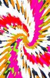 Kleurrijke heldere achtergrond De vlekken divergeren van het midden in een spiraal aan de randen royalty-vrije illustratie
