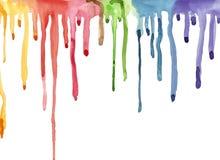 Kleurrijke heldere waterverf abstracte achtergrond De regen van de regenboog stock illustratie