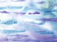 Kleurrijke heldere waterverf abstracte achtergrond Waterverf het in de schaduw stellen royalty-vrije illustratie
