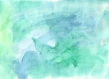 Kleurrijke heldere waterverf abstracte achtergrond Waterverf het in de schaduw stellen stock illustratie