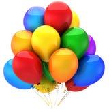 Kleurrijke heliumballons (Huren) Royalty-vrije Stock Afbeelding