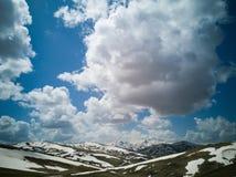 Kleurrijke hemel kleurrijke berg Royalty-vrije Stock Fotografie
