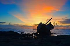 Kleurrijke hemel bij zonsondergang Royalty-vrije Stock Foto