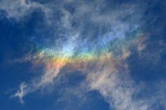 Kleurrijke hemel in de herfst Stock Foto
