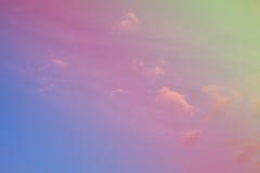 Kleurrijke hemel en wolken Stock Fotografie