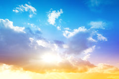 Kleurrijke hemel en zonsopgang Royalty-vrije Stock Fotografie