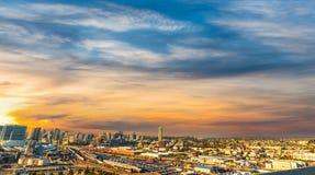 Kleurrijke hemel over San Diego bij zonsondergang royalty-vrije stock foto's