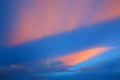 Kleurrijke Hemelachtergrond Stock Afbeelding