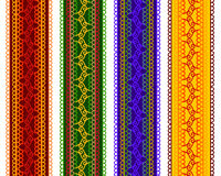Kleurrijke Henna Borders Royalty-vrije Stock Foto