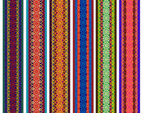 Kleurrijke Henna Borders Royalty-vrije Stock Afbeeldingen