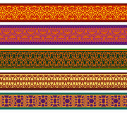 Kleurrijke Henna Borders Stock Fotografie