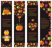 Kleurrijke herfstbanners Stock Afbeeldingen