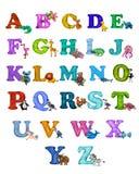 Kleurrijke het alfabetaffiche van plasticine 3D dieren Royalty-vrije Stock Fotografie