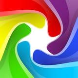 Kleurrijke het blindachtergrond van de regenboogcamera Stock Fotografie