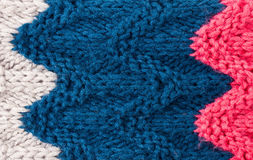 Kleurrijke het Breien textuur als achtergrond. De hoge resolutie breit wol Royalty-vrije Stock Foto's