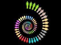 Kleurrijke het concepten spiraalvormige Vector van het het werkteam Royalty-vrije Stock Fotografie