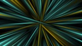 Kleurrijke het gloeien abstracte vlotte stralen videoanimatie royalty-vrije illustratie