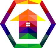 Kleurrijke het huisdecoratie van het voorraadembleem Stock Afbeelding