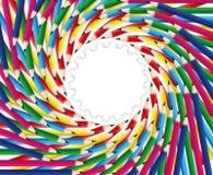 Kleurrijke het kunstwerk van het potlood Stock Foto's