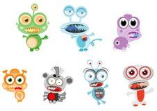 Kleurrijke het monster vreemde vectorillustratie van Litte Stock Afbeelding